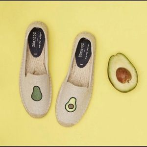Jason Polan Soludos Avocado Slipper Espadrilles